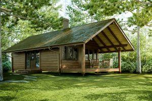 Каркасный дом на загородном участке